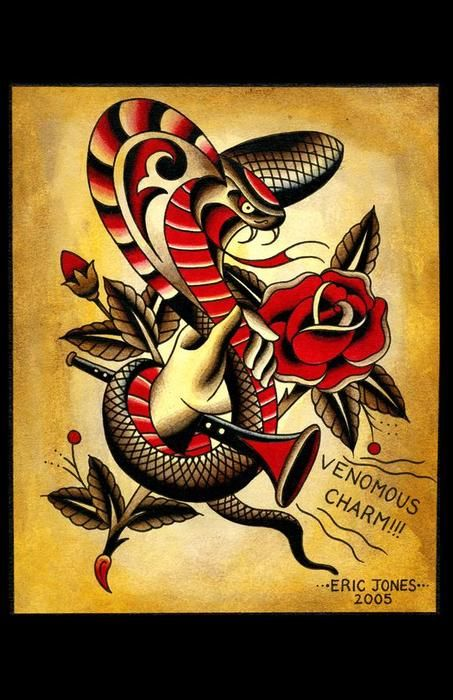 Traditional Tattoo Flash | Eric Jones - now dig this...