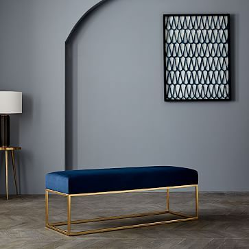 Box Frame Upholstered Bench #westelm