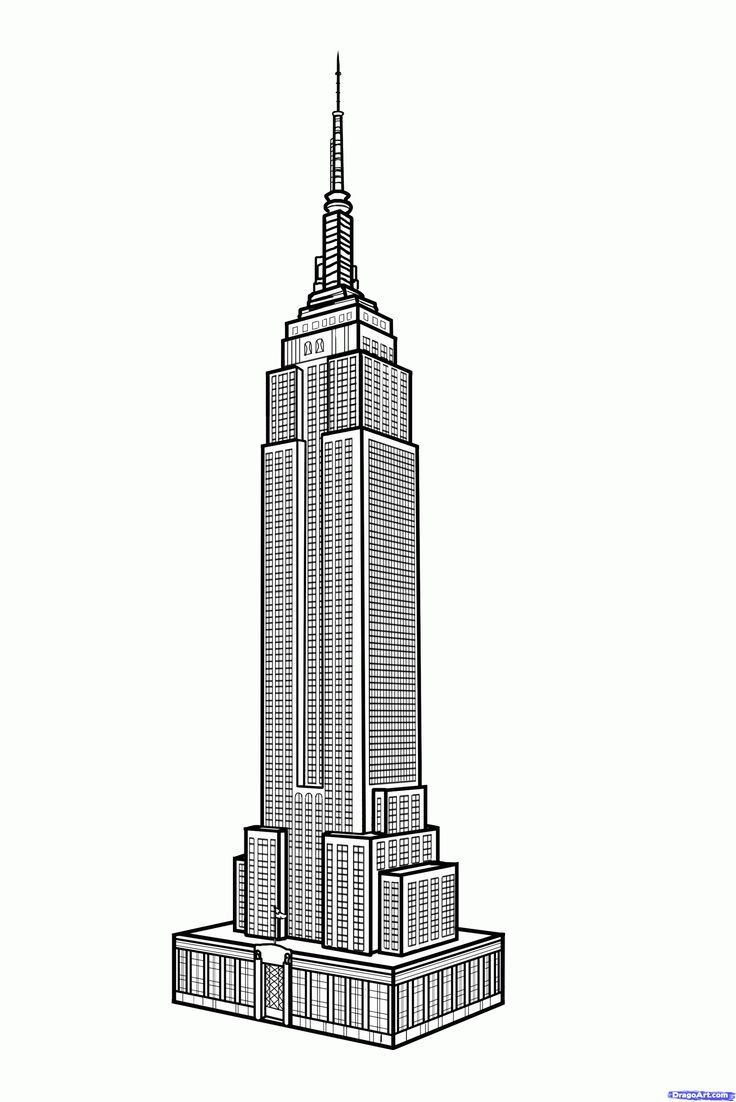 how to draw the empire state building empire state building step nyc pinterest. Black Bedroom Furniture Sets. Home Design Ideas