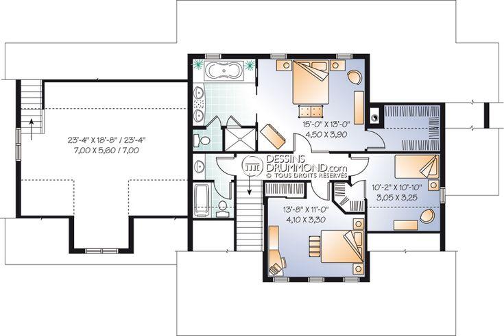 Classique champ tre w2697 maison laprise maisons for Maison de retraite classique