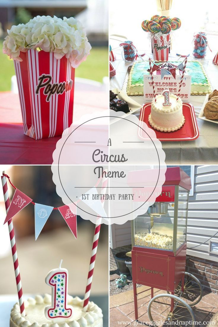 Birthday table decorations boy - A Circus Theme 1st Birthday Party For Baby Boy