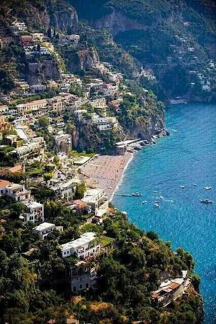 The village of Positano ~ on the Amalfi Coast, Italy