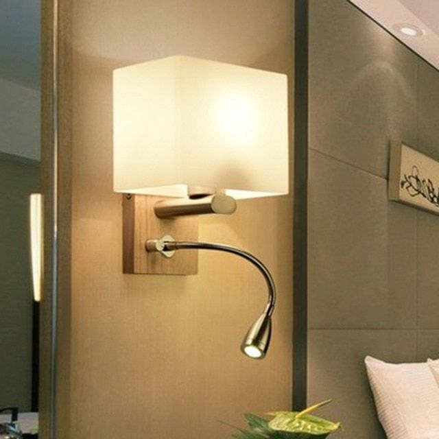 Lukloy Nordic Modern Sconce Glass Led Wall Lamps Stairs Wooden Led Wall Light Bedroom Living Room Aisle Home Wa Led Wall Lamp Bedroom Lighting Design Wall Lamp