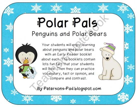 Penguins vs. Polar Bears! Science, Literacy, and Craftivities Mega Pack