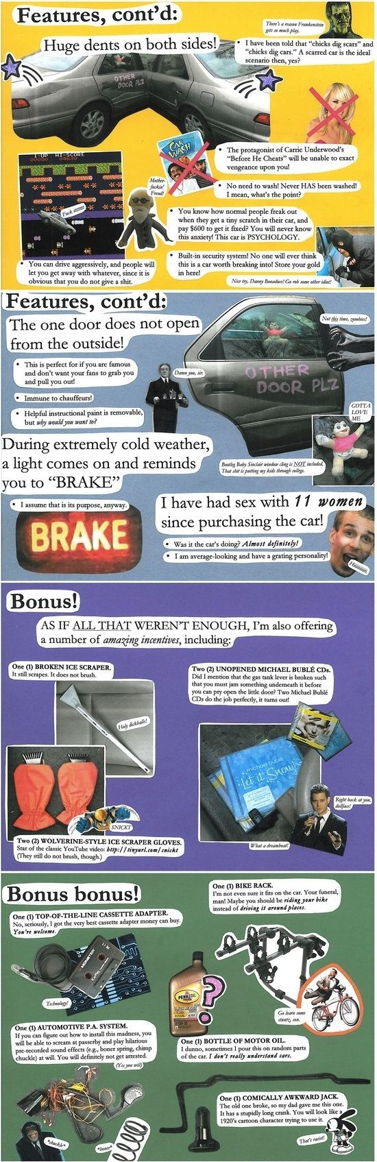The most creative used car ad ever on craigslist