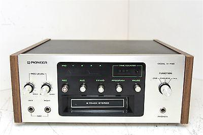 Vintage-Pioneer-H-R99-8-Track-Stereo-Cassette-Deck-Recorder-w-Wood-Trim-Works
