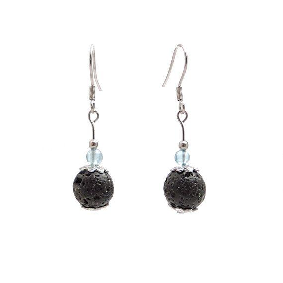 Chakra jewelry blue apatite lava rock by DSNatureetCreation https://www.etsy.com/listing/505820459/chakra-jewelry-blue-apatite-lava-rock