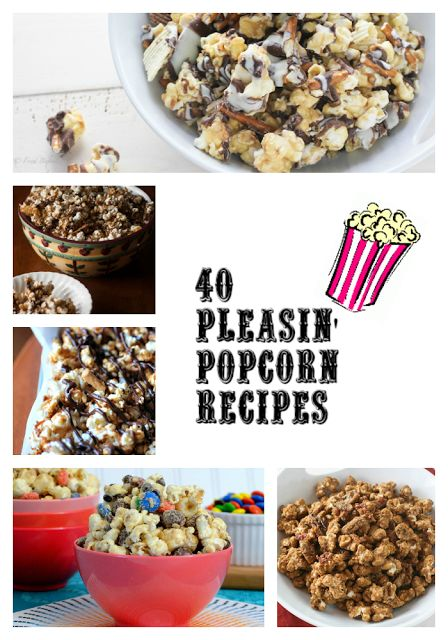 momstestkitchen: 40 Pleasin' Popcorn Recipes. Looked through some of these and they sound AMAZINGG. I've never craved popcorn so bad in my life!