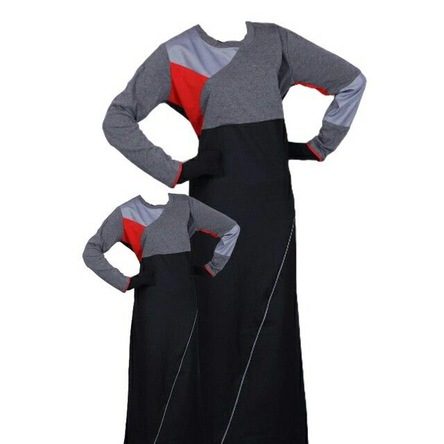 EID ul Adha Women's Sports Abaya Collection #11 Design Nº: 0362 Available Size: 42 to 60, R, L & XL Available Color's: Black & Grey (Combination of 4 Color's) Fabric: T.R. Twill Price From: 500.00 ZAR More info @ http://kufnees.co.za