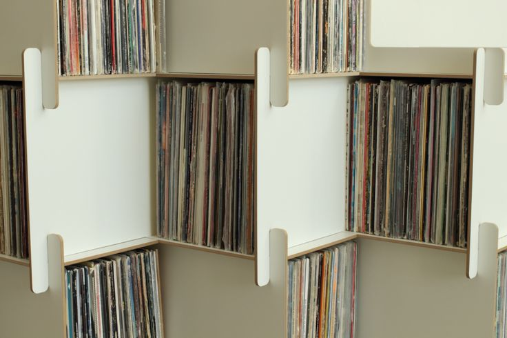 As a professional organizer, I've know a number of people who are very attached to their vinyl collections. And I also know that there are very few nice storage options for those LPs, especially ones that are modular and don't cost a fortune. So when I saw the Kickstarter for