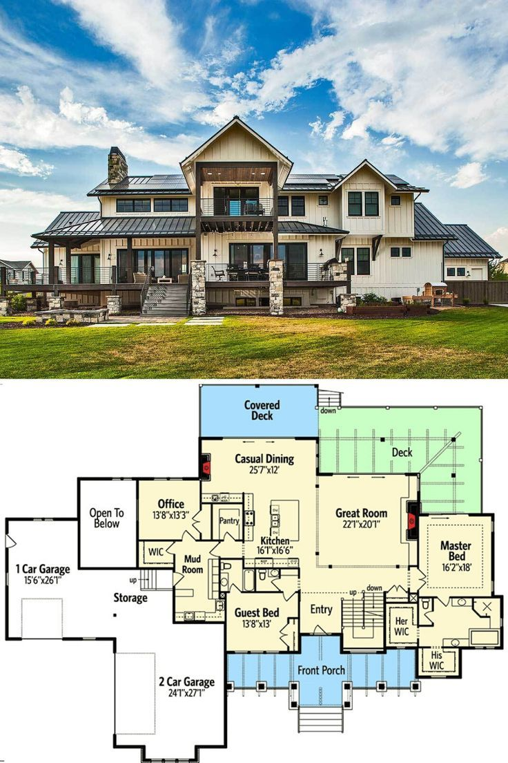 Two Story 6 Bedroom Mountain Home With Climbing And Exercise Rooms Floor Plan Vacation House Plans House Plans Mansion Large House Plans