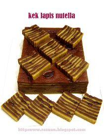Lama..saya googled utk mencari kek lapis nutella di internet. Walaupun ada beberapa results tp tak satu pun yg berkongsi resipinya. So, what...