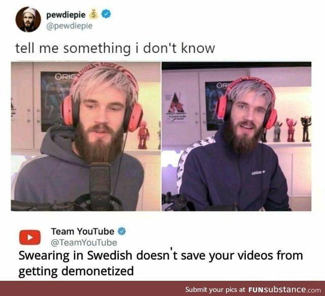 Youtube Again Funsubstance Youtube Memes Pewdiepie Youtube