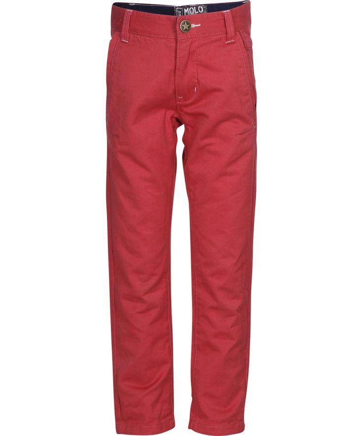 Super pantalon rouge coupe classique par Molo #emilea