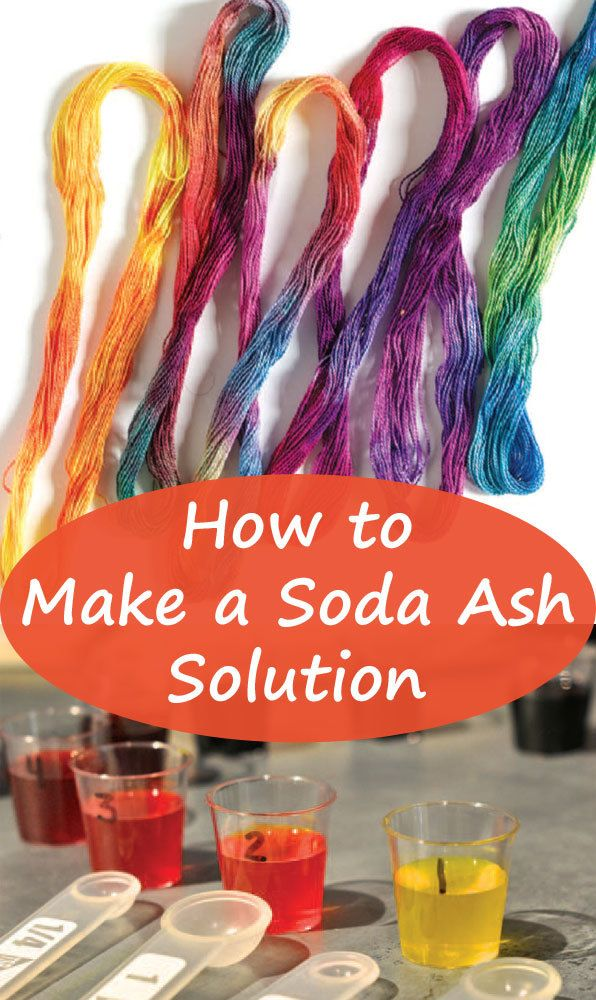 how to make soda ash for tie dye