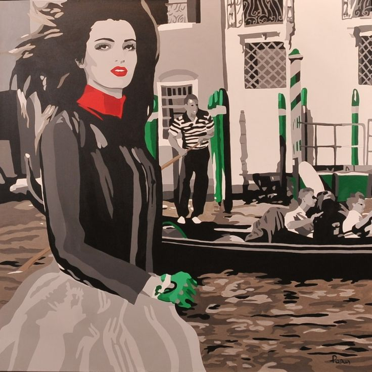 Lost in Venice - acrylic on canvas; Papa Silvia