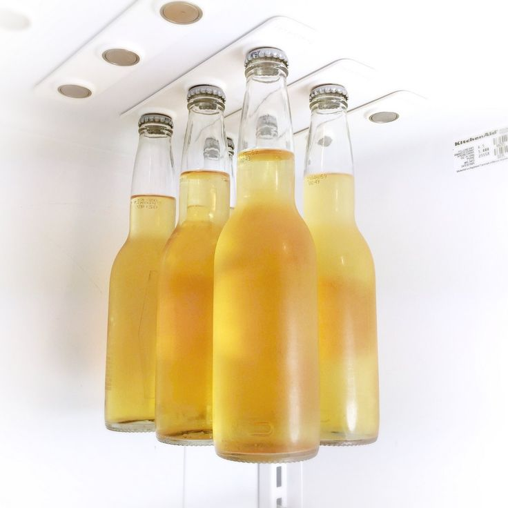BottleLoft by Strong Like Bull Magnets - Keep beer bottles out of the way in your fridge with these strong magnets.