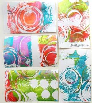 Video with the Gelli Plate and stickers for this month's Colorful Gelli Print Party!