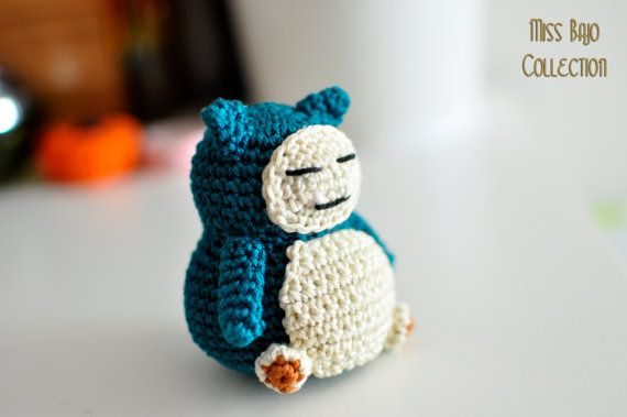 Snorlax pokemon by MissBajoCollection on Etsy