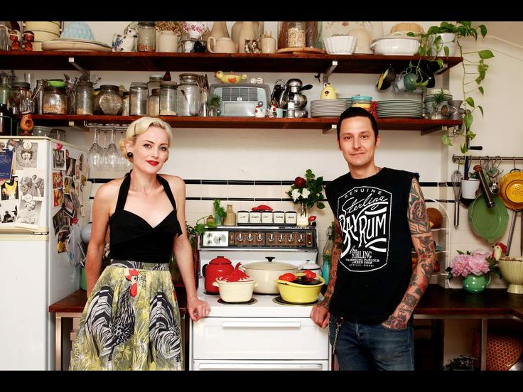 Elvis Abrahanowicz and Sarah Doyle owners of Porteno and Bodega at home.