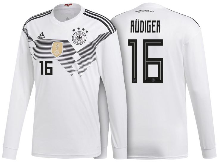 Germany Shirt 2018 World Cup LS antonio rudiger Home Soccer Jersey