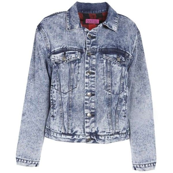 Boohoo Xenia Flannel Lined Denim Jacket (1.475 UYU) ❤ liked on Polyvore featuring outerwear, jackets, cotton jacket, blue cotton jacket, flannel lined jean jacket, flannel lined denim jacket and blue jean jacket
