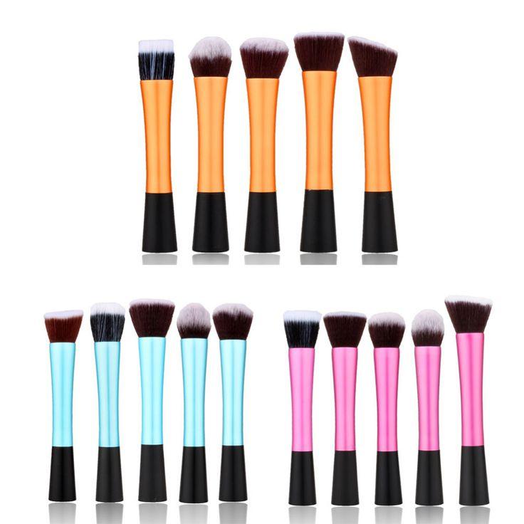 2016 nuevo llega la Fibra Herramienta Cosmética de Maquillaje de Sombra de Ojos Profesional Powder Blush Brush Set envío gratis