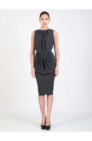PLEATED CREPE DRESS - Rhea Costa-Shop