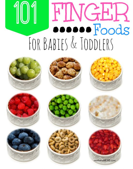 It's important to introduce a variety of foods while babies are young, but sometimes it's hard to think outside the box. Here are 101 Finger Food Ideas for babies & Toddlers