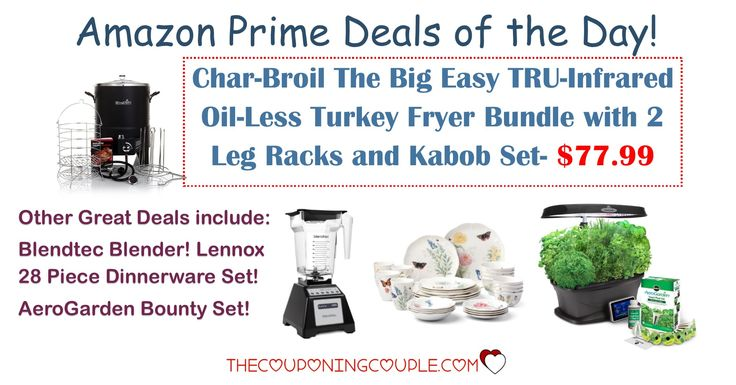 HOT AMAZON PRIME DEALS!! Get a Char-Broil Oil-Less Turkey Fryer for ONLY $77.99! Plus other HOT deals!  Click the link below to get all of the details ► http://www.thecouponingcouple.com/amazon-prime-deals-of-the-day/ #Coupons #Couponing #CouponCommunity  Visit us at http://www.thecouponingcouple.com for more great posts!