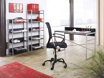 Skrivebord GELSTED sort/metal | JYSK