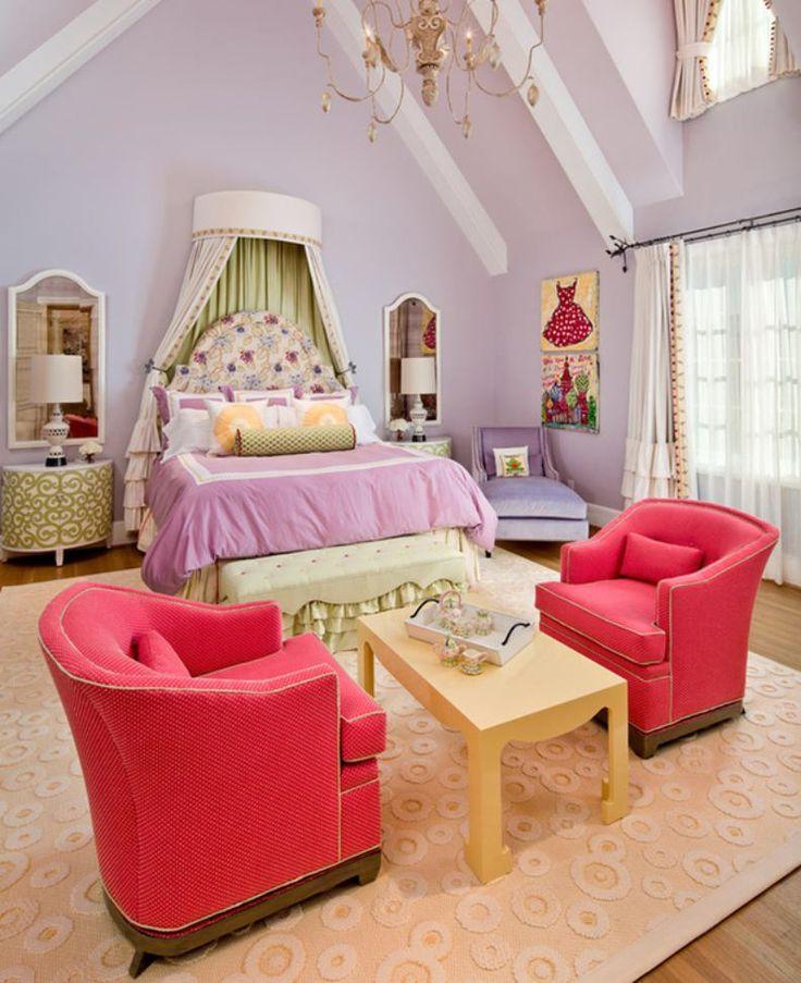 Сиреневая детская комната в стиле принцессы