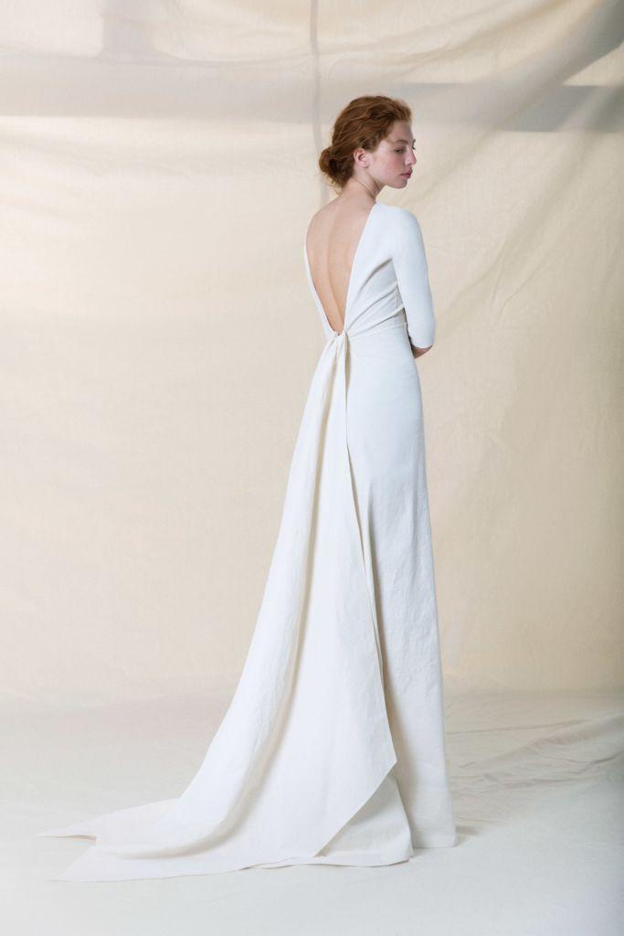Jara Dress Cortana Wedding Dress Minimal Wedding Dress Linen Wedding Dress Dresses