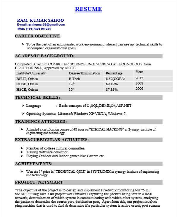 Iti Fitter Fresher Resume Format In 2020 With Images