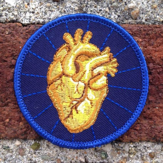 Heart of Gold Patch by FrogandToadPress on Etsy