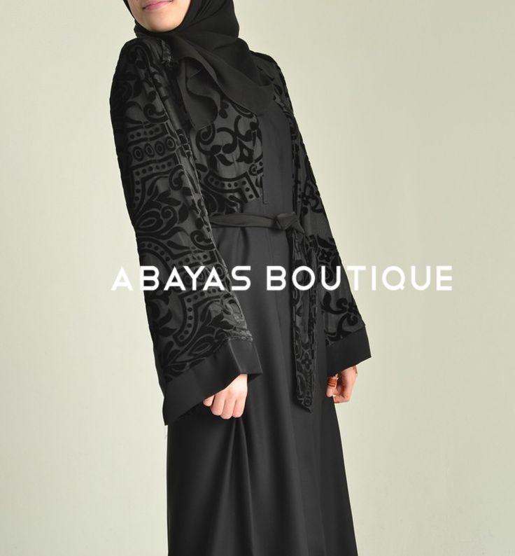 Barouque Velvet Abaya