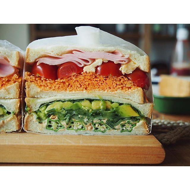 fujifab12 on Instagram pinned by myThings サンドイッチ⑥  はい完成ー❤️ え?失敗してないですよ? ミニトマトズレてないですよ?  みんなでレッツサンドイッチ❤️ #パルシステム の#タベソダ というアプリでは、パルシステムの商品を使った美味しいレシピが見られます☺️ 皆様ぜひ〜 #food#foodpic#feedfeed#管理栄養士#dietitian#ヘルシー#healthy#パン#パン大好き#パンキチ#bread##サンドイッチ#sandwich#パニーニ#panini#パルシステム#タベソダ#palsystem#断面フェチ#萌え断