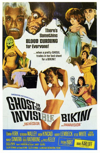 The Ghost in the Invisible Bikini - A Pretty Ghoul Trades in Her Bed Sheet for a Bikini!