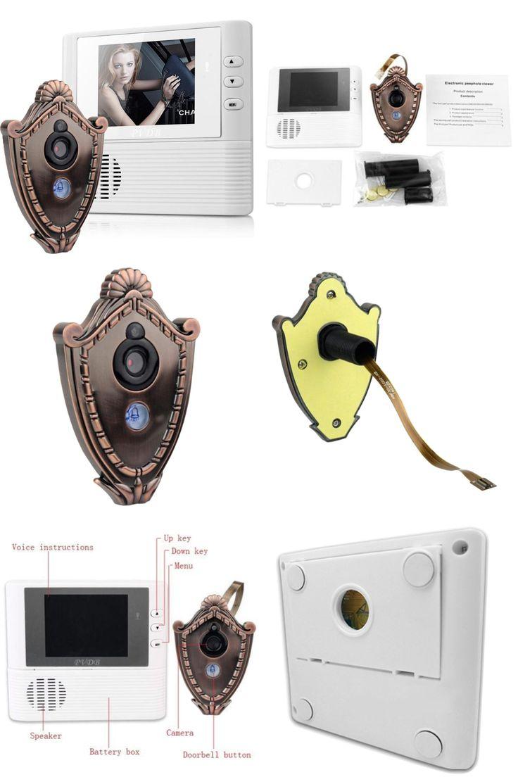 [Visit to Buy] Digital Door Peephole Video Doorbell 0.3M Night Vision Video Record Home Security Brand New #Advertisement