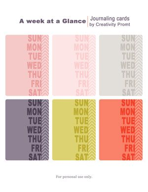 free printable round-up post (for Project Life or other projects)
