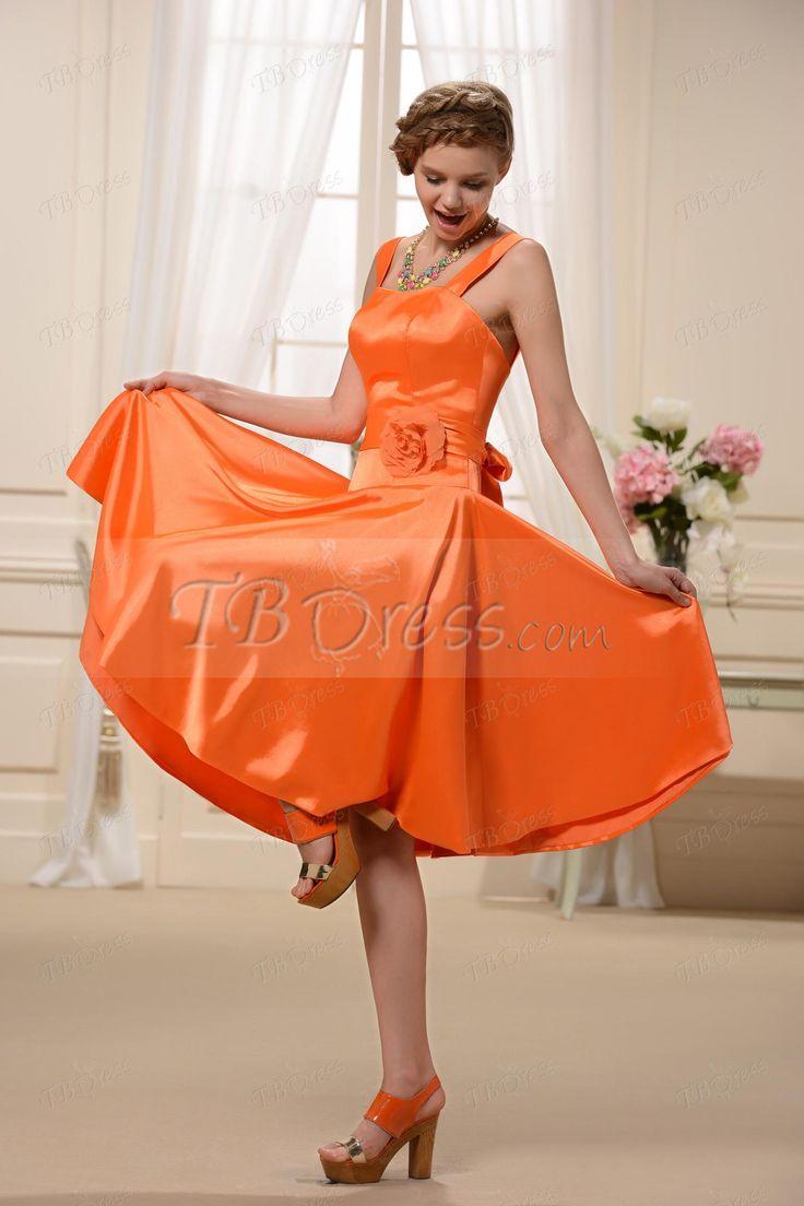 Großzügig Orange Brautjungfern Kleid Bilder - Hochzeit Kleid Stile ...