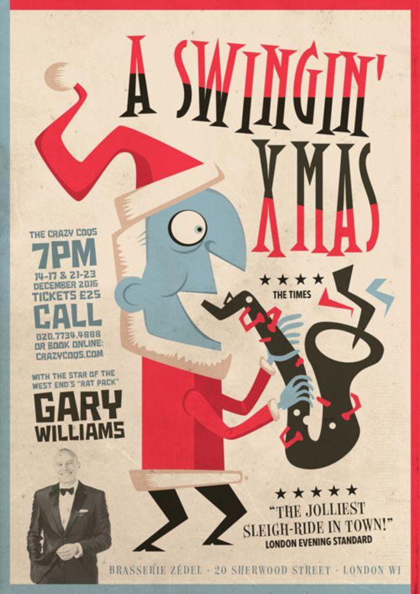 A Swinging Xmas - Poster per lo show di Natale del cantante inglese Gary Williams