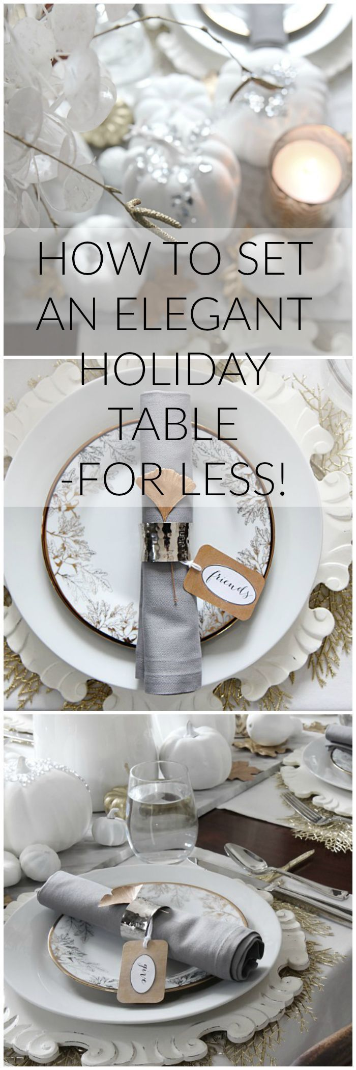 How to set an elegant holiday table