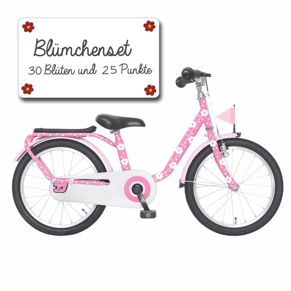 Wandtattoos - Fahrrad Aufkleber Set Blumen Punkte Blümchen M1007 - ein Designerstück von IlkaParey bei DaWanda