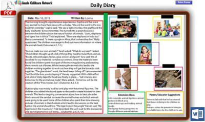 New Daily Diary Template Now Available