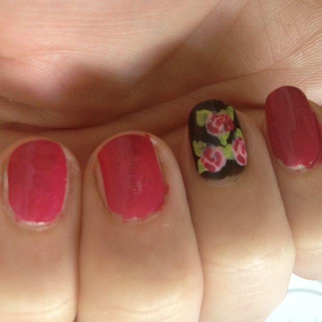 nail rosa