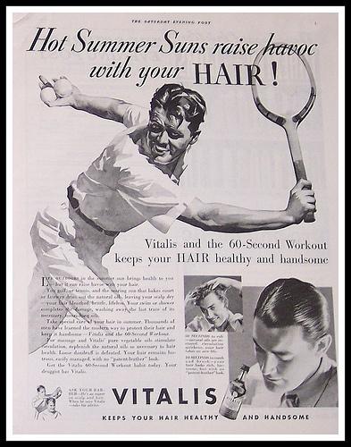 Vitalis Hair Tonic Ad, 1935
