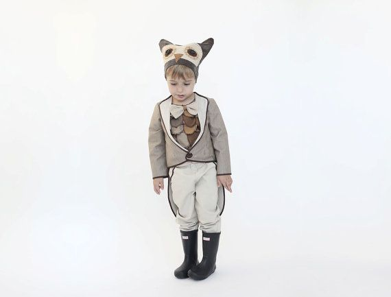 Halloween uil kostuum vogel aankleden jongens door inbalcarmistudio