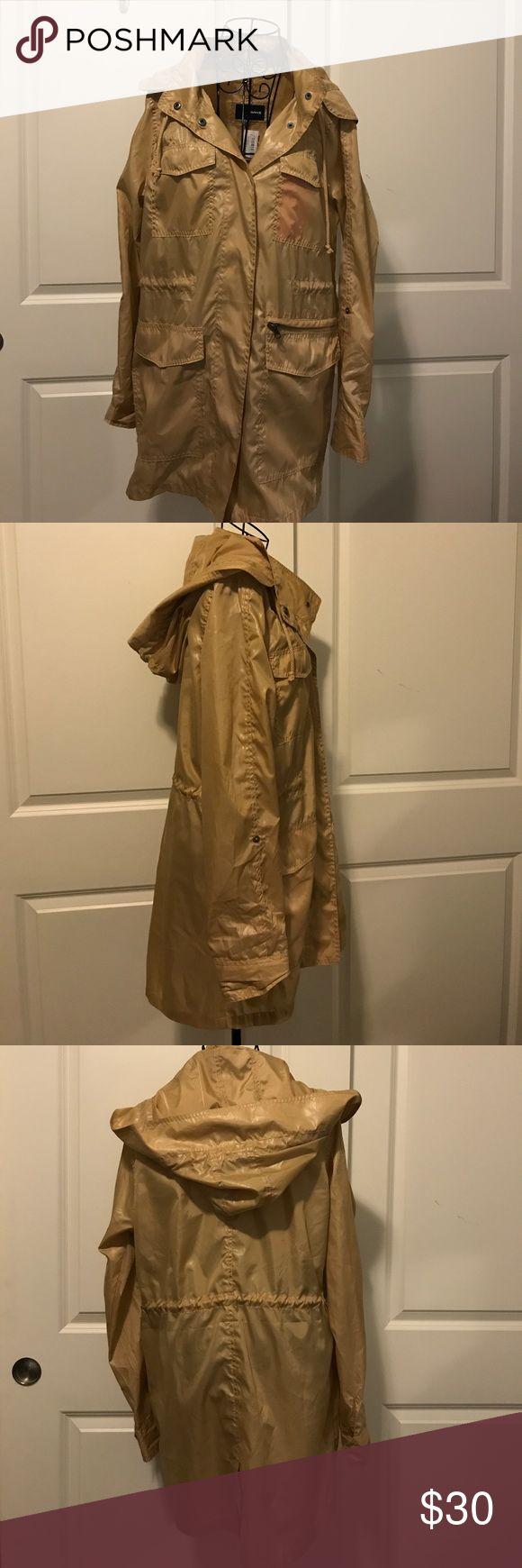 Hurley Gold Rain Jacket Hurley Gold Rain Jacket Hurley Jackets & Coats