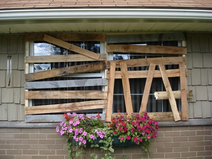 Pallet Wood Window Covers. The frames are made from 2x2's ...
